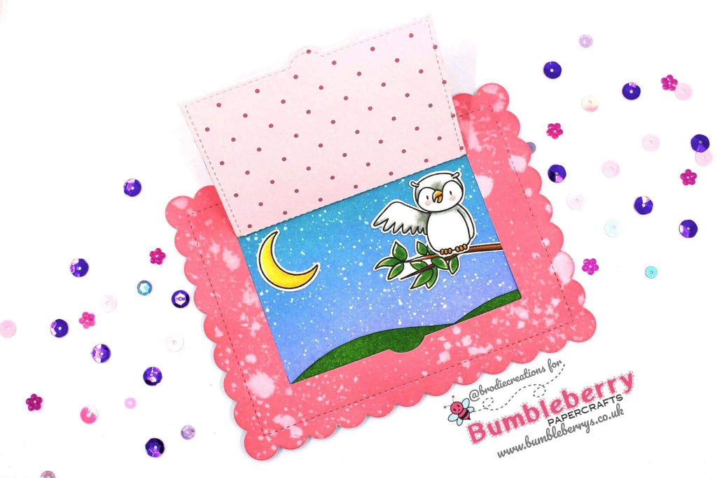 "Hip Hip Hoo-Ray! Cute Peekaboo Card Using Heffy Doodle ""Hootiful"" Stamp Set!"