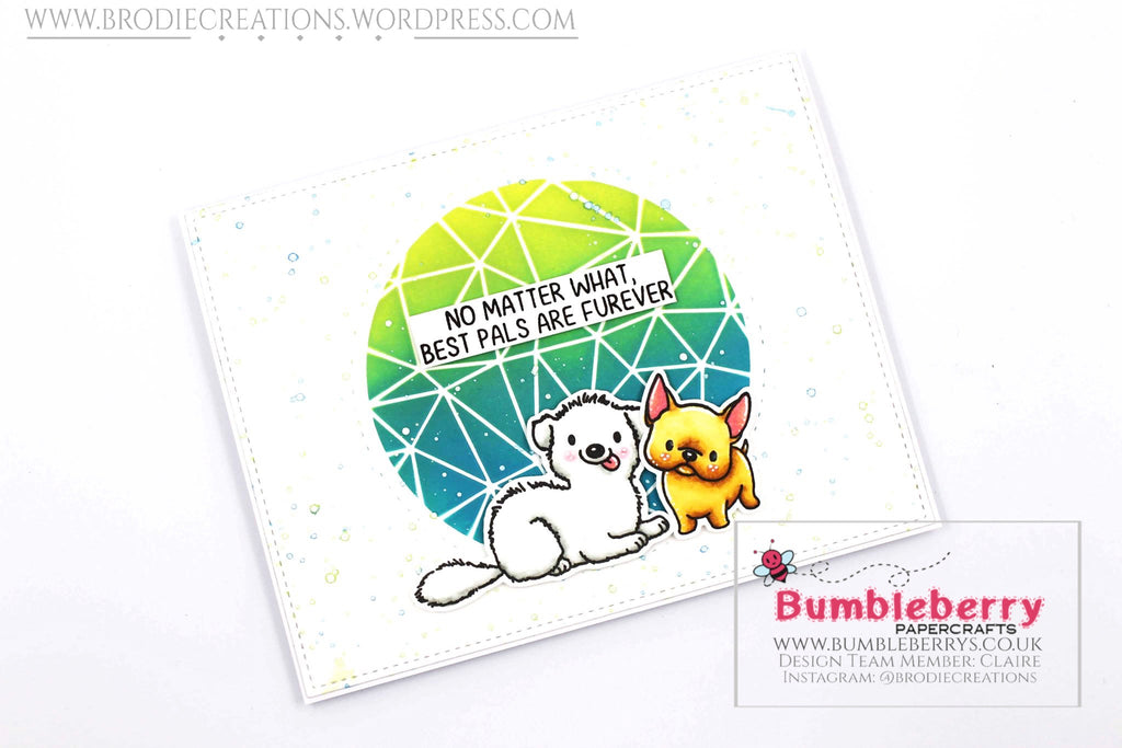 "Simple Friendship Card Using Mama Elephant's ""My Pet Puppies"" Stamp Set!"