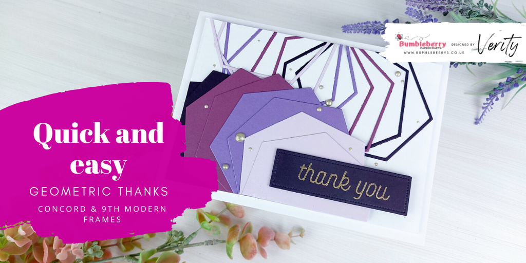 Quick and easy geometric thank you card - Concord & 9th