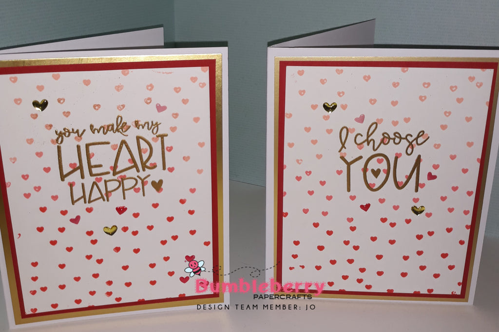 You make my Heart Happy....... Valentines Card No 3 Plus My first video demo