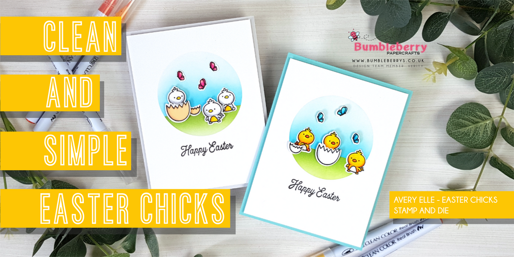 Clean and Simple Easter Chicks