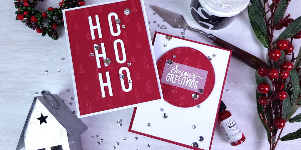 Clean and simple festive cards