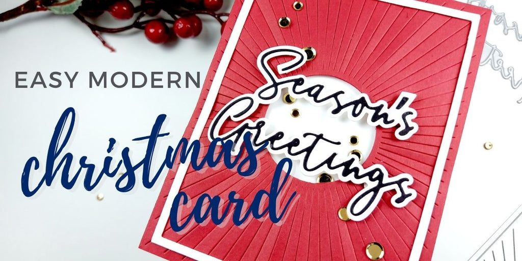 Easy Modern Christmas card with PinkFresh Studio