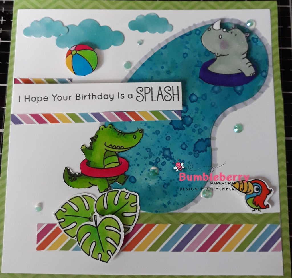 "I Hope Your Birthday Is A ""Splash"" Using The Stamps and Dies from Sunshine and Friendship."