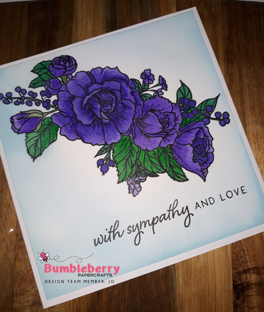 Everything Wonderful, Large Floral Design Used To Create, a Sympathy Card and  A Bonus Card