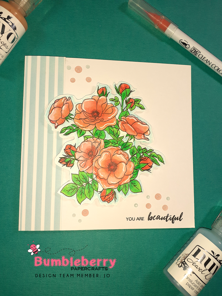 Water Colouring With Zig Markers Using Paint -A Flower ( Anemone)