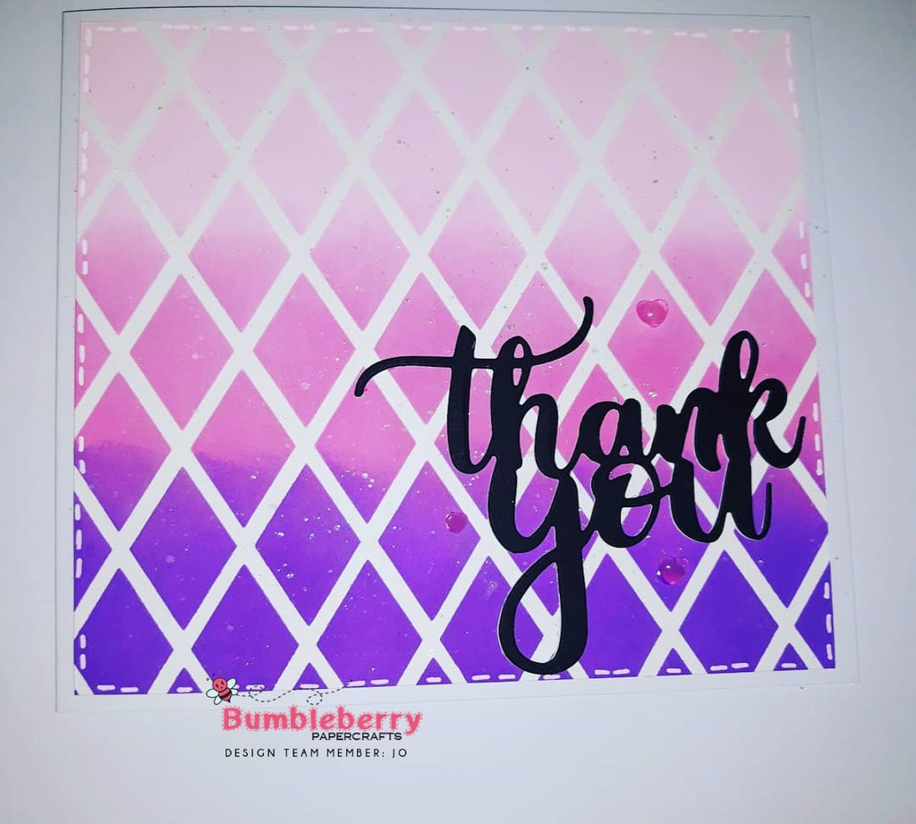 Creating Ombre Patterned  Backgrounds With Stencils