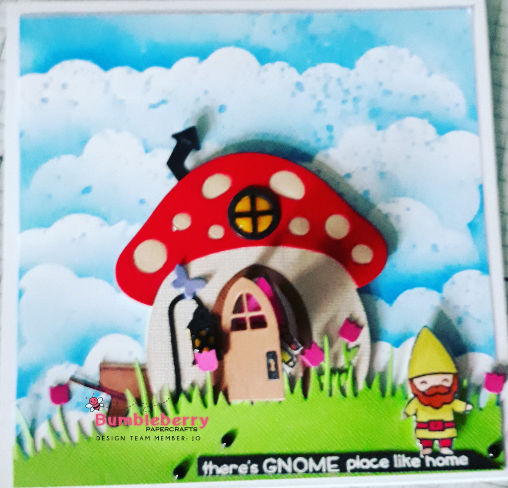 There's Gnome Place Like Home....... Cute Interactive Card Using Lawn Fawn Stamps and Dies.