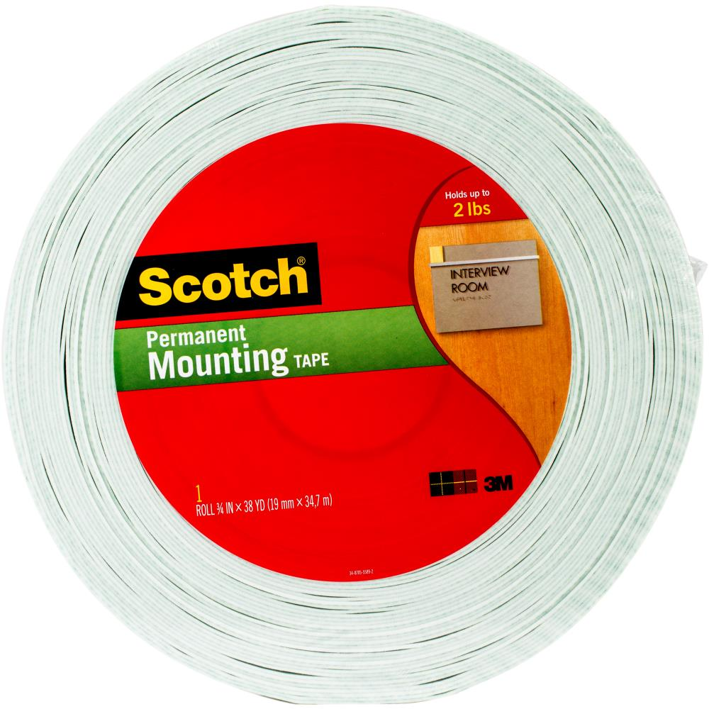 "3M Scotch Double Sided  Foam Tape .75""x38 Yards"