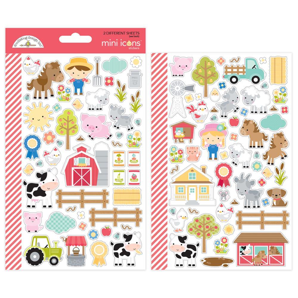 Doodlebug Cardstock Stickers - Down On The Farm