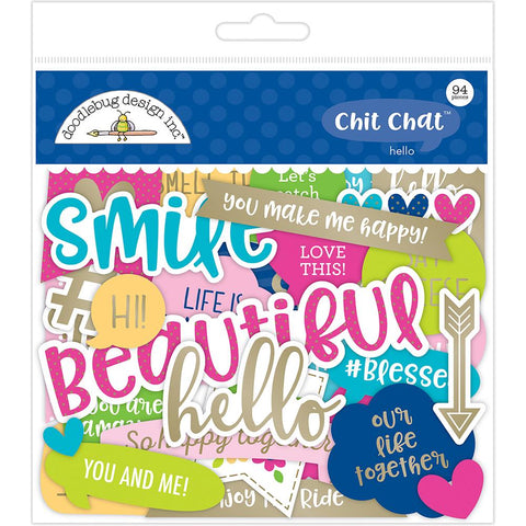 Doodlebug Chit Chat Odds & Ends - Hello