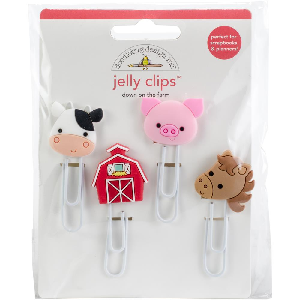 Doodlebug Jelly Clips - Down On The Farm