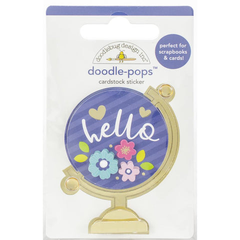 Doodle Pops 3D Sticker - Hello World