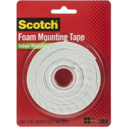 "3M Scotch Double Sided  Foam Tape 0.5"" x 150"""