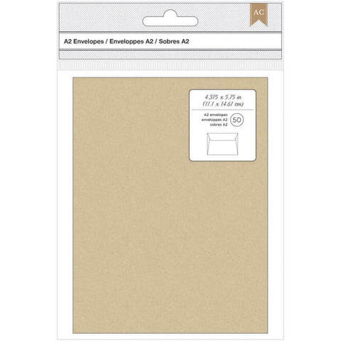 American Crafts Kraft A2 Envelopes 50pk