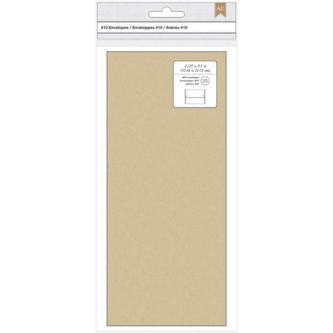 American Crafts #10 Kraft Envelopes 25pk