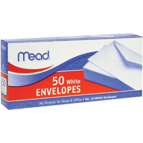 "Mead Boxed Envelopes 4.125""x9.5"" (slimline) 50pk"