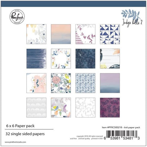 Indigo hills 2: 6 x 6 collection paper pack