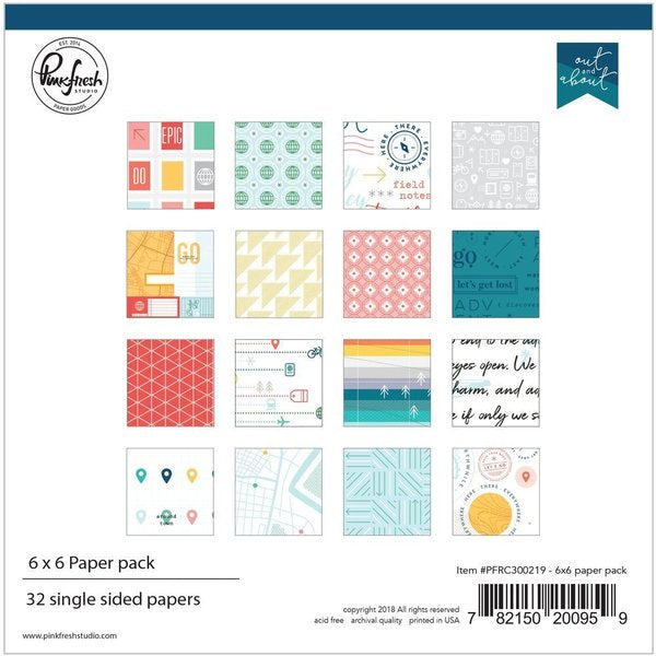 Out and about: 6 x 6 collection paper pack