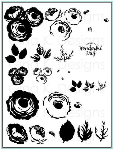 Clear Stamps Old Country Roses
