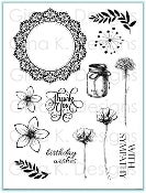 Clear Stamps Frame and Flowers 1