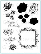 Clear Stamps Frame and Flowers 2