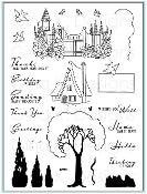 Clear Stamps Cottage Garden