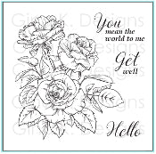 Clear Mini Stamps Rose Bouquet