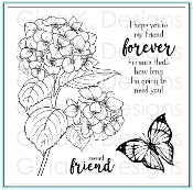 Clear Mini Stamps Heartfelt Hydrangea