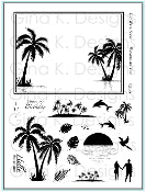 Clear Stamps Framescapes Tropical Skies
