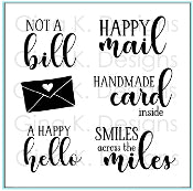 Clear Mini Stamps Happy Mail