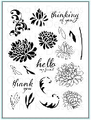 Clear Stamps Dazzling Dahlia