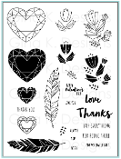 Clear Stamps Geo Thanks