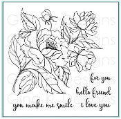 Clear Mini Stamps - You Make Me Smile