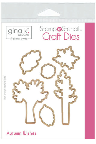 GKD Stamp & Stencil Autumn Wishes Die Set