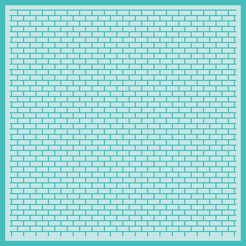Perfect Bricks Background Stencil