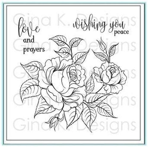 Clear mini stamp Peaceful Roses