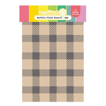 Buffalo Plaid Stencil Duo 6x9