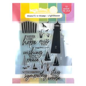 Stencil-n-Stamp: Lighthouse