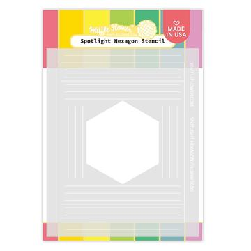 Spotlight Hexagon Stencil