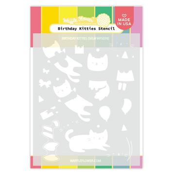 Birthday Kitties Stencil
