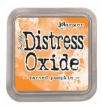 Distress Oxide-Carved Pumpkin
