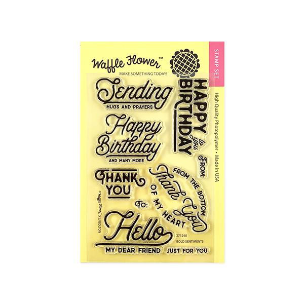 Bold Sentiments Stamp Set