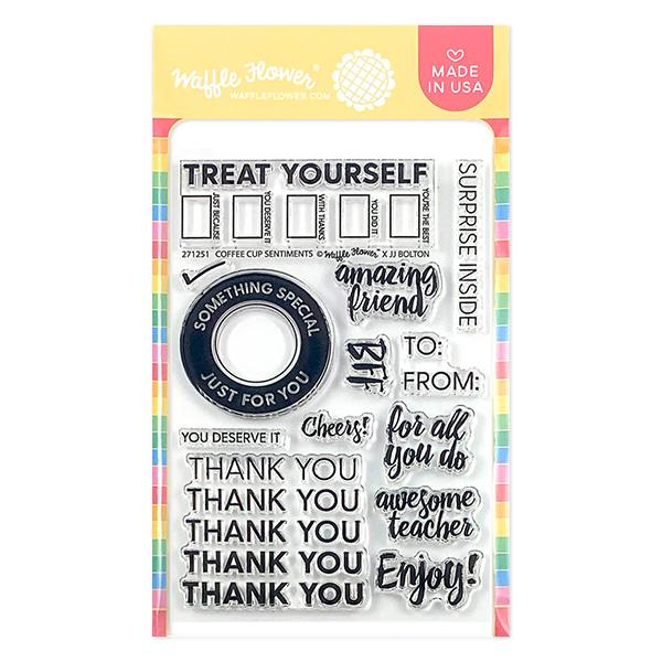 Coffee Cup Sentiments Stamp Set
