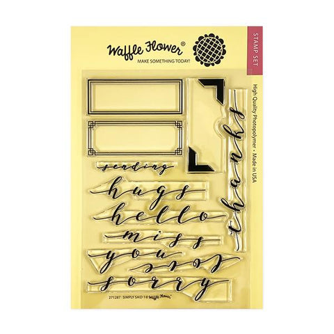 Simply Said 1 Stamp Set