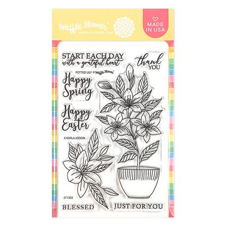 Potted Lily Stamp Set