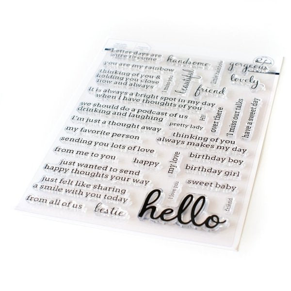 Simply Sentiments - Helllo Stamp Set