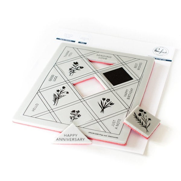 Pop Out: Diamonds Cling Stamp