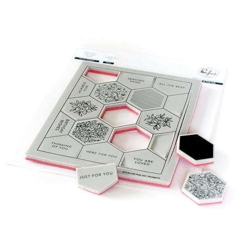 Pop Out: Hexagons Cling Stamp