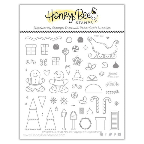 Gingerbread House Add-on Stamp Set